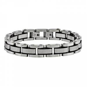 FINE JEWELRY Mens Stainless Steel Chain Bracelet