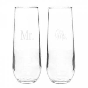 CATHYS CONCEPTS Cathy's Concepts Mr. & Mrs. Champagne Toasting Flutes