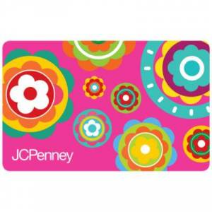 JCP Gift Certificates $25 Pink Flowers Gift Card