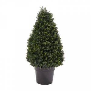 Lavish Home 3 Ft. Artificial Cypress Tower-Style Topiary