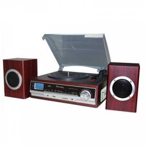 Asstd National Brand TechPlay 3 speed Turntable with MP3/Cassette Player