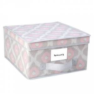 KENNEDY INTERNATIONAL Non-Woven Storage Box-Medium 11X12X6 - Ikat