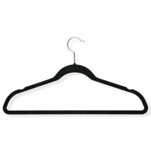 HONEY CAN DO Honey-Can-Do?? 20-Pack Velvet Touch Suit Hangers - Black