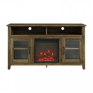 """Asstd National Brand 58"""" Wood Highboy Fireplace TV Stand"""