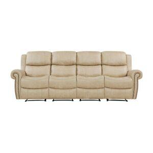 HANDY LIVING Roku Faux Leather 4 Seat Wall Hugger Recliner Sofa