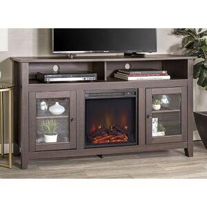 "Asstd National Brand 58"" Wood Highboy Fireplace Media TV Stand Console"