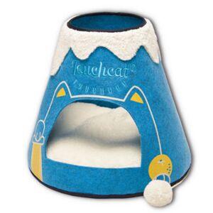 Asstd National Brand Touchcat Molten Lava Designer Triangular Cat Pet Kitty Bed House with Toy