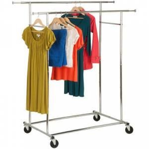 HONEY CAN DO Honey-Can-Do?? Dual Collapsible Garment Rack