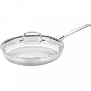 """Cuisinart?? Chef???s Classic 12"""" Stainless Steel Skillet with Glass Lid"""