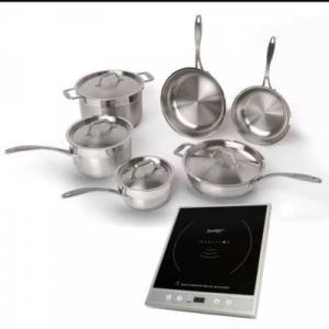 Berghoff EarthChef Professional Cookware Set w/ Silver Induction Stove