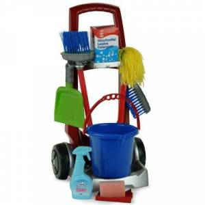 Asstd National Brand Toy Cleaning Trolley Play Set