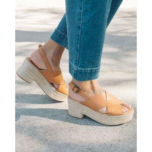 Soludos Amalfi Platform Heel (FINAL SALE) - Camel / 10