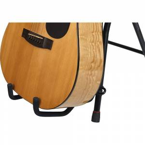 Gator Frameworks Combo Guitar Performance Seat & Guitar Stand w/ Cotton Guitar Strap