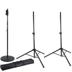 Gator Frameworks Standard Speaker Stand Set GFW-SPK-2000SET + Microphone Stand