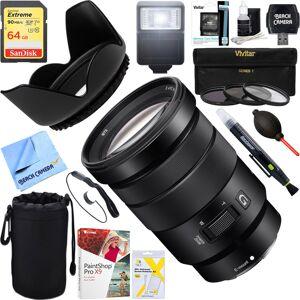 Sony E PZ 18-105mm f/4 G OSS Power Zoom Lens + 64GB Ultimate Kit