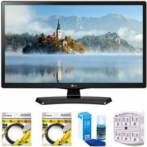 LG 24 Class 23.6 Diag HD 720p LED TV 2017 Model 24LJ4540 with Cleaning Bundle