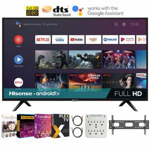 Hisense 43H5500G 43 Inch H55 Series FHD Full HD Smart Android TV + Movies Streaming Pack