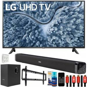 LG UP7000PUA 43 inch Series 4K Smart UHD TV 2021 with Deco Gear Home Theater Bundle
