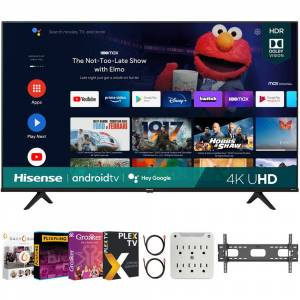 Hisense 65 Inch A6G Series 4K UHD Smart Android TV 2021 + Movies Streaming Pack