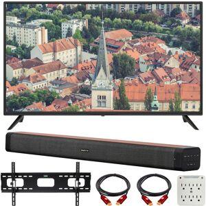 Sansui S40P28FN 40 1080p FHD LED Smart TV with Deco Home 60W Soundbar Bundle
