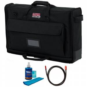 Gator Padded Nylon Carry Tote Bag for LCD Between 19-24 + Cleaner and Cable