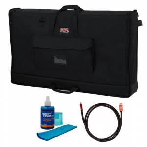 Gator Padded Nylon Carry Tote Bag for LCD Between 40-45 + Cleaner and Cable
