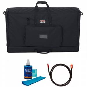 Gator Padded Nylon Dual Carry Tote Bag for 2LCD Between 40-45+Cleaner and Cable