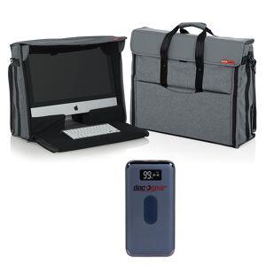 Gator Nylon Carry Tote Bag for Apple 21.5 iMac Desktop Computer with Power Bank