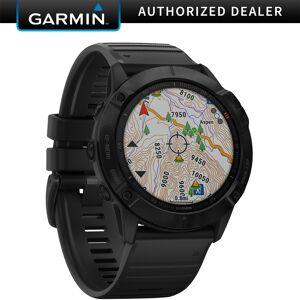 Garmin fenix 6X Pro Multisport GPS Smartwatch (Black with Black Band)(010-02157-00)