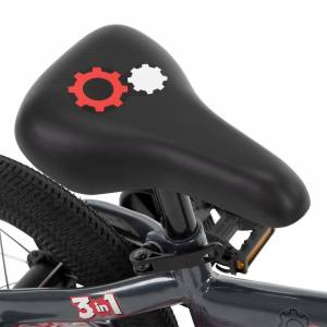 Huffy Grow 2 Go Kids Bike, Balance to Pedal, Red 22301