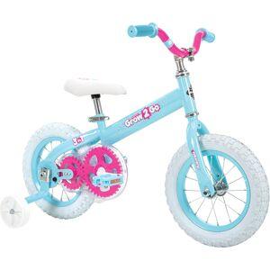 Huffy Grow 2 Go Kids Bike, Balance to Pedal, Blue and Pink 22311