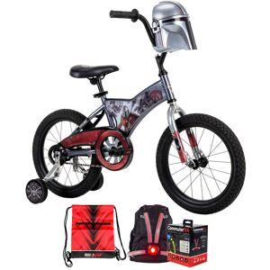 Huffy Star Wars Mandalorian Boys' Bike w/ Training Wheels, 16-inch +Accessories Bundle