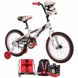 Huffy 31627 Star Wars Stormtrooper Boys' Bike, 16-inch +Accessories Bundle