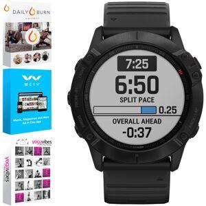 Garmin Fenix 6X Pro Multisport GPS Smartwatch, Black +Fitness & Wellness Suite