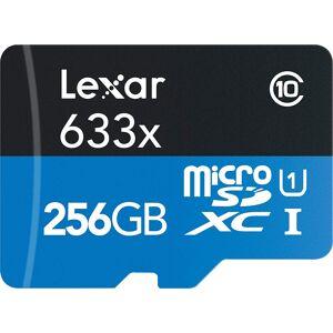 Lexar High-Performance 633x microSDHC/microSDXC UHS-I 256GB Memory Card (3-Pack)