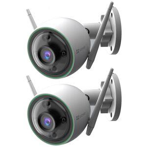 EZVIZ C3N 1080p Outdoor Wi-Fi Bullet Camera w/ Night Vision & Built-In AI 2 Pack