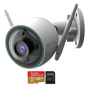EZVIZ C3N 1080p Outdoor Wi-Fi Bullet Camera with Night Vision + 32GB Memory Card