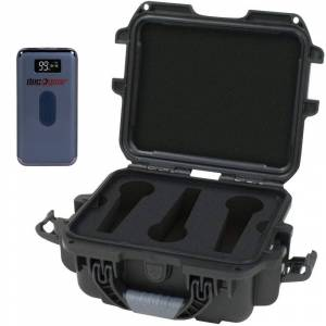 Gator Waterproof Wired Microphone Case with Deco Gear Power Bank