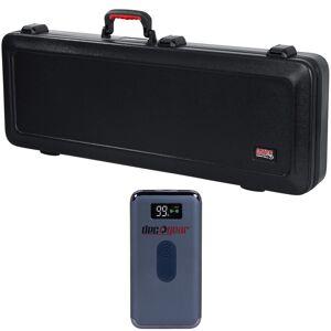 Gator TSA Guitar Series Electric Guitar Case w/ Deco Gear Power Bank Bundle