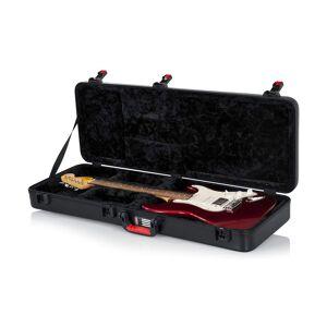 Gator TSA Guitar Series Electric Guitar Case with MS12-BLK 2 Suede Guitar Strap