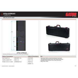 Gator TSA Guitar Series Electric Guitar Case with MSSC8-BLK Cotton Guitar Strap