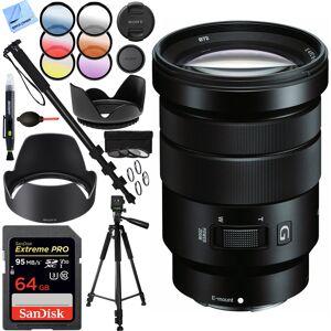 Sony E PZ 18-105mm f/4 G OSS Power Zoom Lens - SELP18105G 64GB Kit