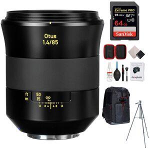 Zeiss Otus 85mm f/1.4 Apo Planar T ZE Lens for Canon + 64GB Accessories Bundle