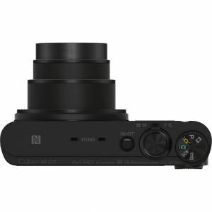 Sony Cyber-shot DSC-WX350 Digital Camera (Black) + 32GB Dual Battery & Accessory Kit