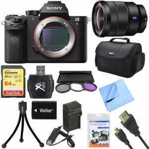 Sony a7R II Full-frame Mirrorless Interchangeable 42.4MP Camera 16-35mm Lens Bundle