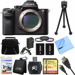 Sony a7R II Full-frame Mirrorless Interchangeable Lens 42.4MP Camera Deluxe Bundle