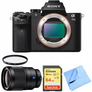 Sony Alpha 7II Mirrorless Interchangeable Lens Camera Body 35mm Prime Lens Bundle