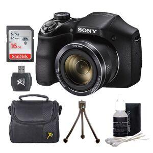 Sony Cyber-shot DSC-H300 Digital Camera Black 16GB Kit