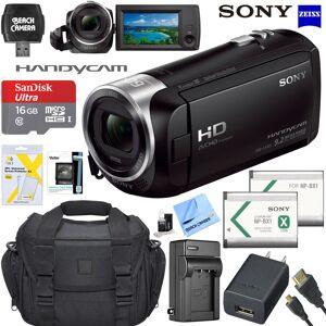 Sony HD Video Handycam Camcorder 16GB Camera Bag Accessory Bundle HDR-CX405/B