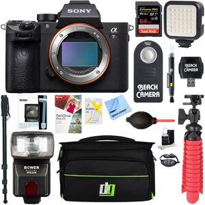 Sony a7R III Mirrorless Digital Camera Body + 64GB Memory & Flash Accessory Bundle